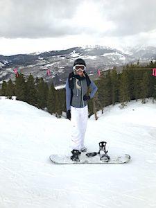 Alisha Snowboarding