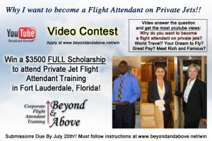 corporate flight attendant training on private jets