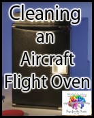 cleaning an aircraft oven - gulfstream jet - private flight attendant
