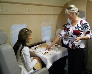 Using the table for flight attendants course